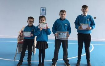 Pupils of the Week for this week. Well done.